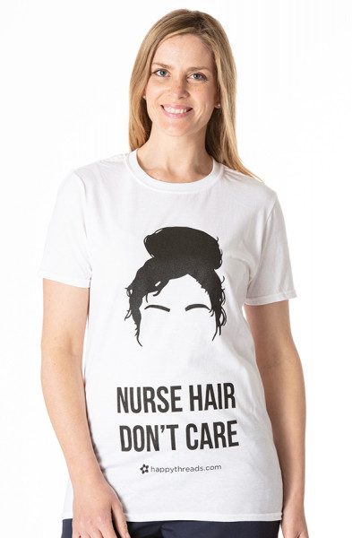 Nurse Hair Don't Care Funky T-Shirt