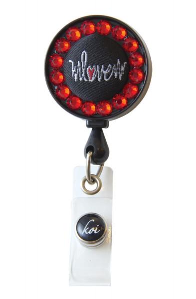 Koi Woven Badge Real - Heartbeat Love