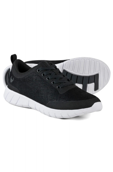 Suecos Alma Velvety Trainers - Black and White