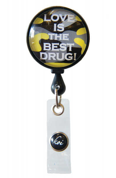 Koi Woven Badge Reel - Love Drug