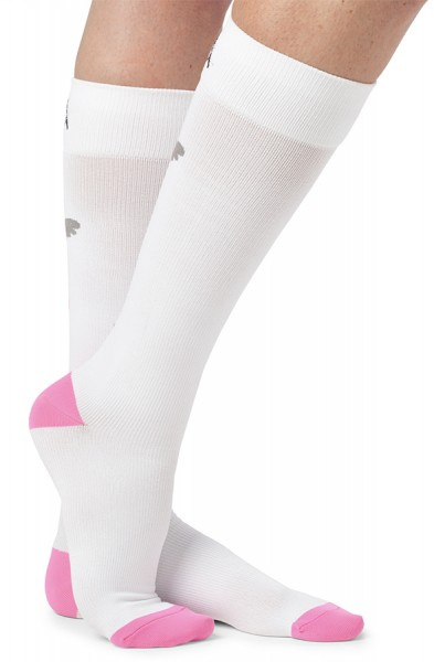 Koi White Compression Socks