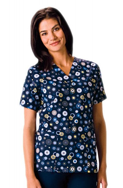 2b70efdbe81 Women's Print Scrub Tops | Nurses Uniforms | Scrubs Ireland | Lab ...