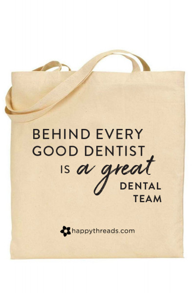 Cotton Tote Bag - Great Dental Team