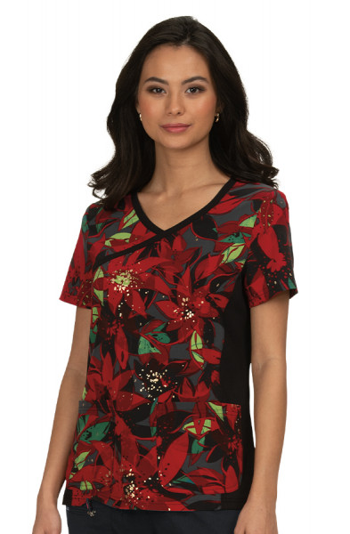 Koi Raquel Top - Holiday Floral