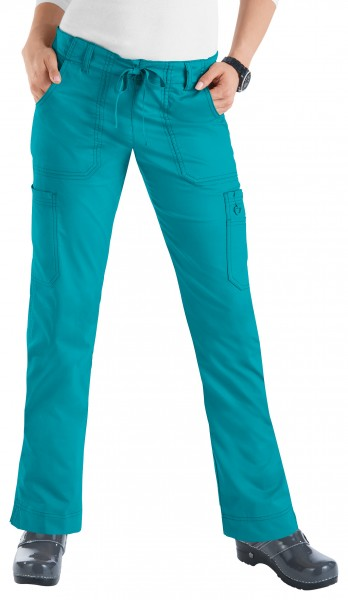 Koi Stretch Lindsey Trousers - Turquoise