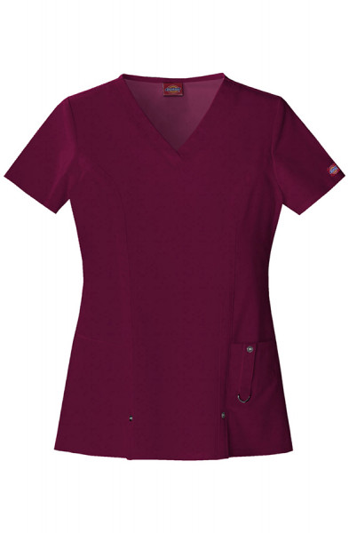 Dickies Xtreme Stretch Scrub Top Wine