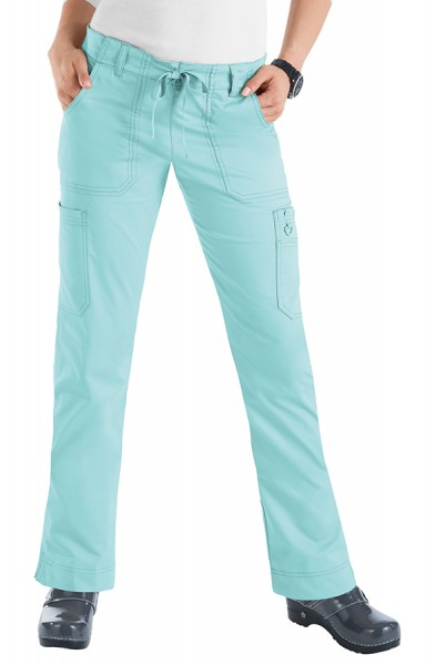 Koi Stretch Lindsey Trousers - Cool Blue