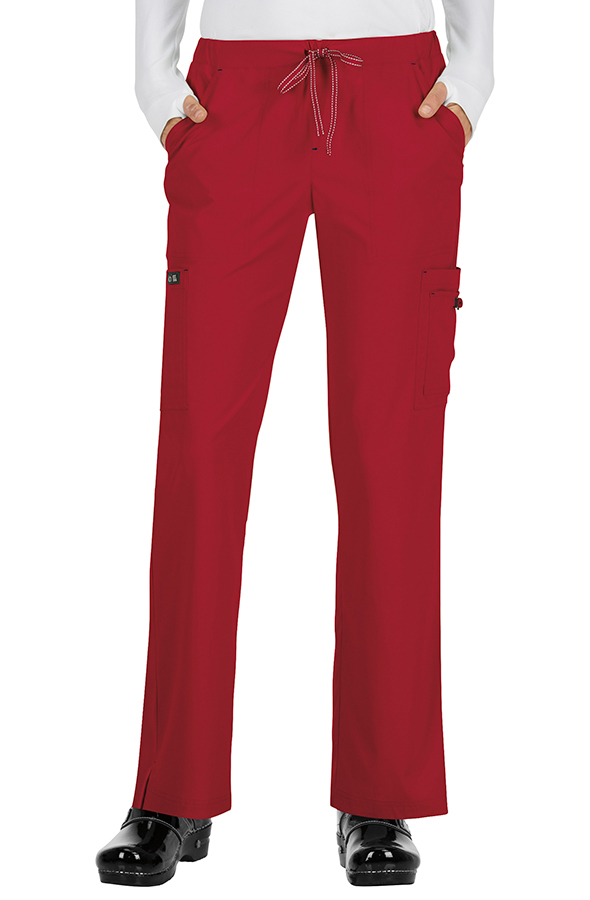 koi-basics-holly-scrub-trousers-ruby