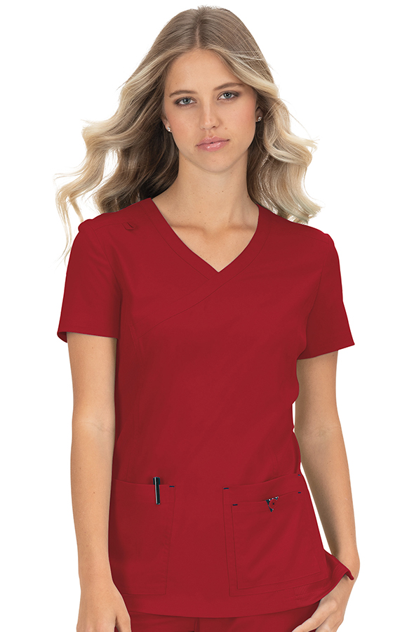 koi-basics-katie-scrub-top-ruby