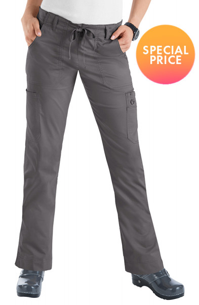 Koi Stretch Lindsey Trousers - Steel - SPECIAL PRICE
