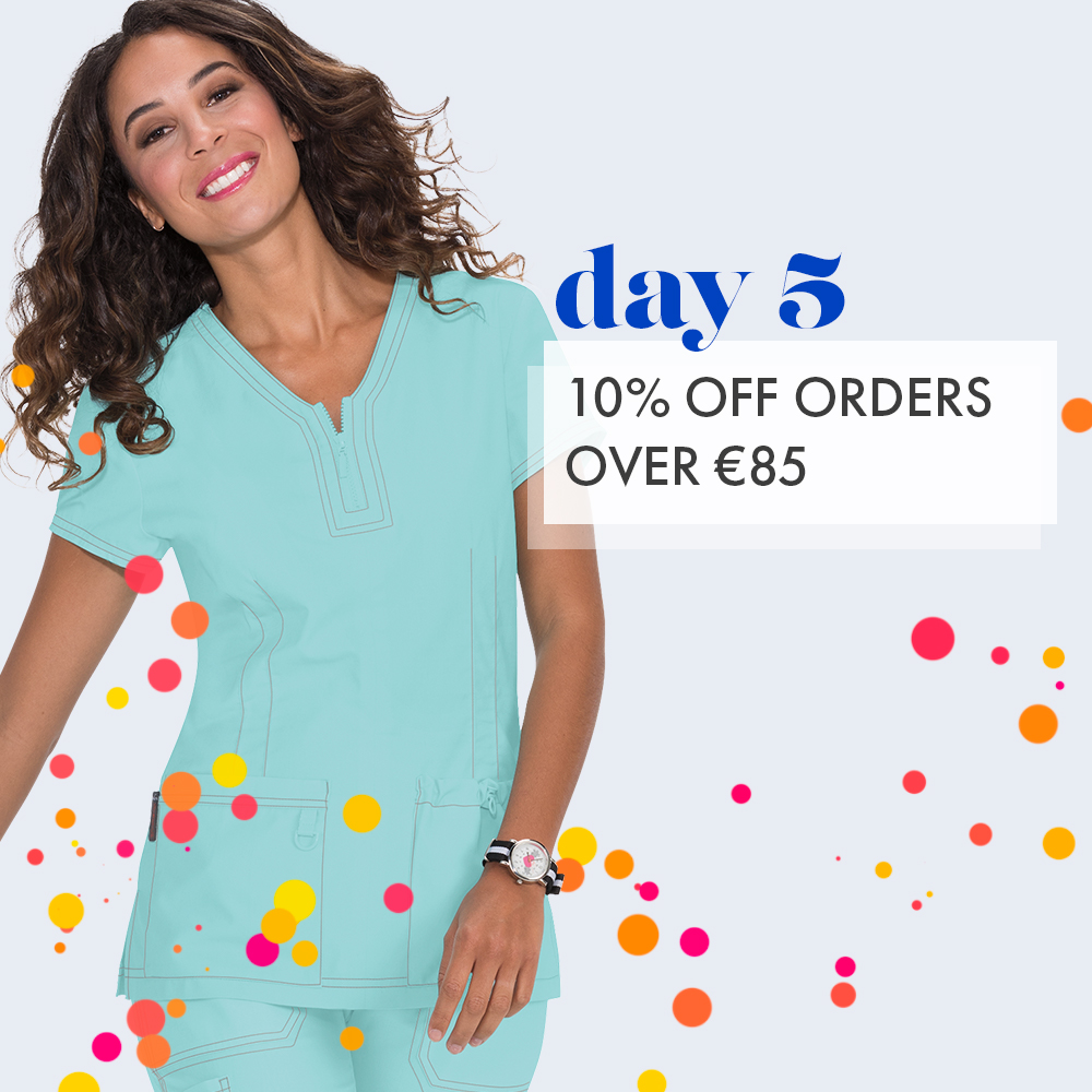Day 5: 10% off orders over €85