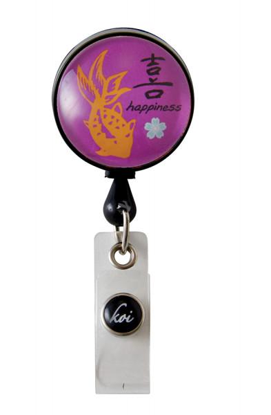 Koi Woven Badge Reel - Happiness