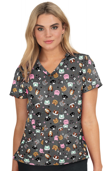 Koi Basics Leslie Top - Raining Cats And Dogs